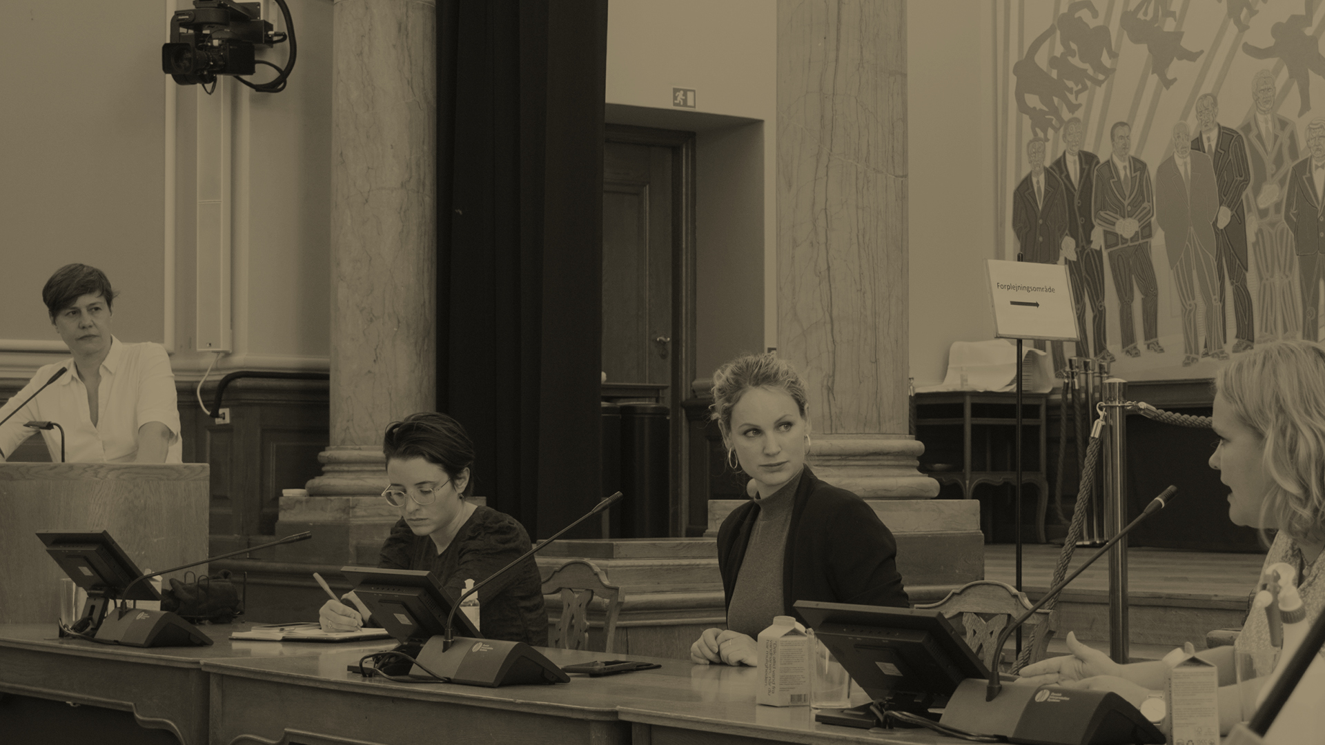 Foto fra høring på Christiansborg